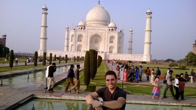 En el Taj Mahal, el palacio más impresionante que he visto en mi vida