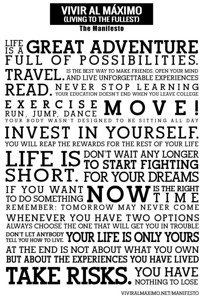 Vivir al maximo