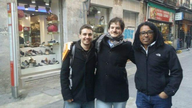 Con Antonio y Amuda, CEO de Destinia